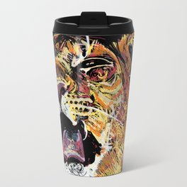 Little king yawning Metal Travel Mug