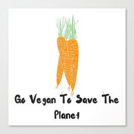Vegan world Canvas Print