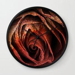 Bleeding Rust Rose Wall Clock