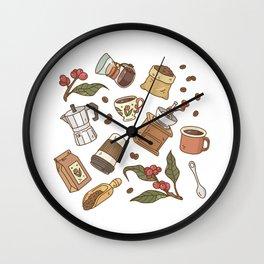 Coffee Break Pattern  Wall Clock