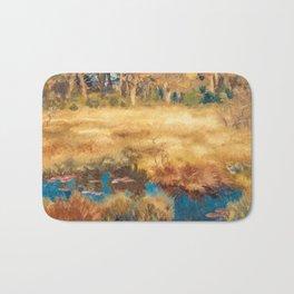 Bruno Liljefors - Autumn Landscape with Fox - Höstlandskap med Räv Bath Mat