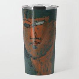 Amadeo Modigliani / Tête rouge - 1915 Travel Mug