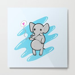 Smellephant Metal Print