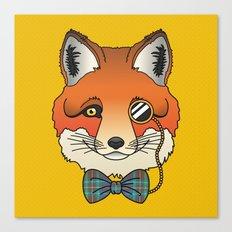 Dapper Fox Canvas Print