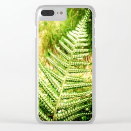 Green Fern Clear iPhone Case