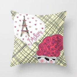 I Adore Paris Throw Pillow
