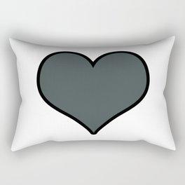 PPG Paint Night Watch Heart Shape with Black Border Digital Illustration, Minimal Art Rectangular Pillow