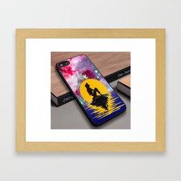 Ariel Little Mermaid Art Nebula Galaxy Moon Custom iPhone 6s Case Framed Art Print