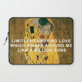 The Kiss Across the Universe Laptop Sleeve