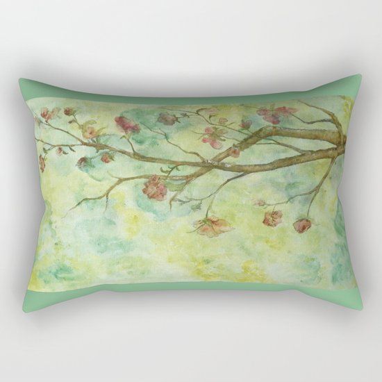 Branch with flowers Rectangular Pillow