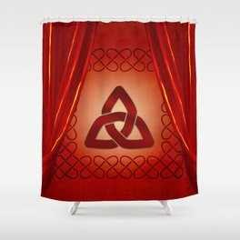 Wonderful celtic knot in red colors Shower Curtain