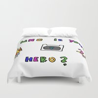 hero Duvet Covers featuring hero by Katharina Nachher