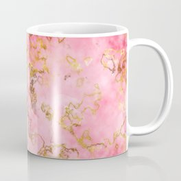 Raspberry Kiss - Pink Gold Marble Coffee Mug