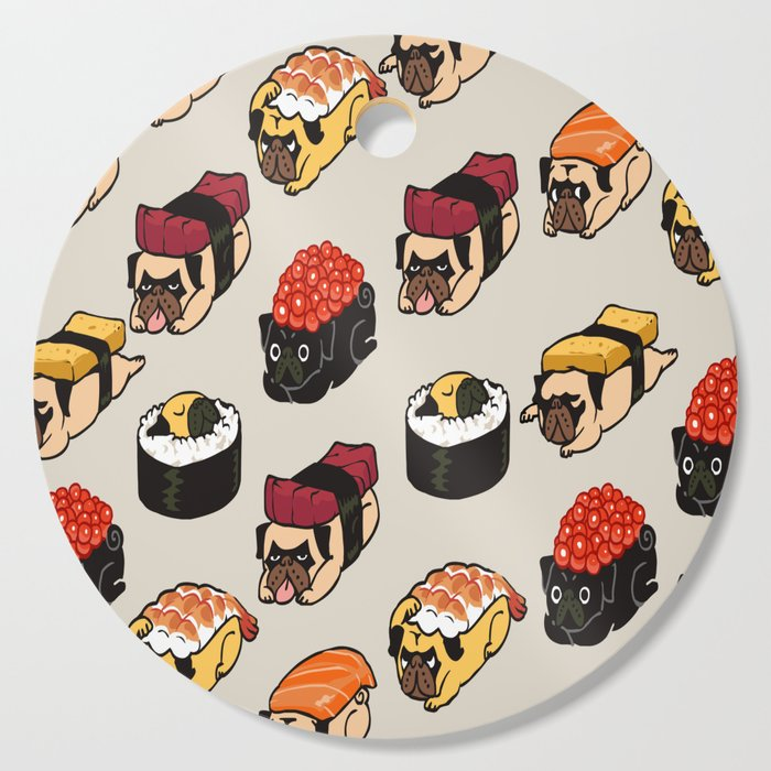 Sushi Pug Cutting Board