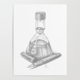Bottled Ink and Fountain Pen Poster