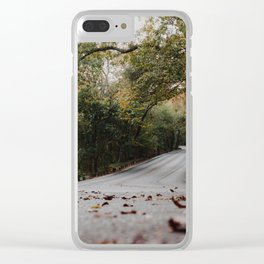 Fall Road Clear iPhone Case
