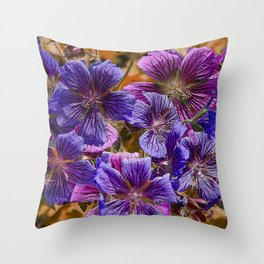 SPECIE GERANIUMS Throw Pillow