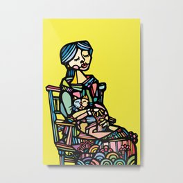 Cats Are a Girl's Best Friend Metal Print