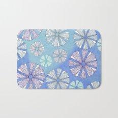 sea urchin blue watercolor Bath Mat