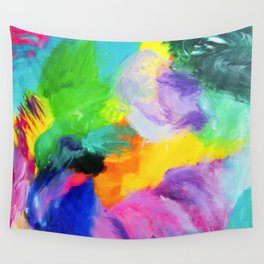 Bright, bold and colourful abstract Wall Tapestry