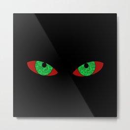 Evil Eyes Halloween Metal Print