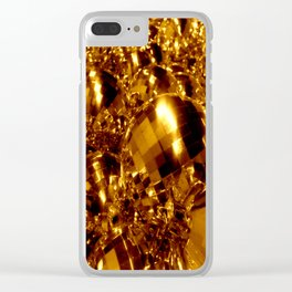 Gold Christmas Ornaments Clear iPhone Case