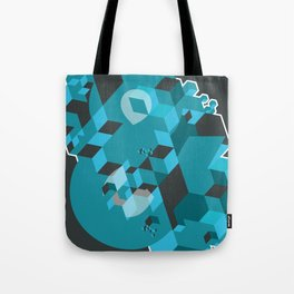 Ampersand Lost in Cubes Tote Bag