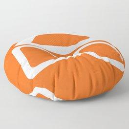 Mid Century In Burnt Orange Floor Pillow