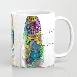 mandala colorful feathers Coffee Mug