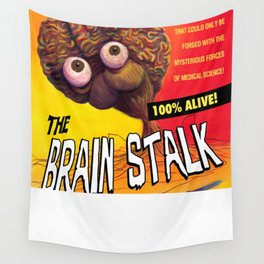 """The Brain Stalk"" Movie Poster Wall Tapestry"