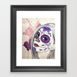 Sugar Skull Girl Framed Art Print