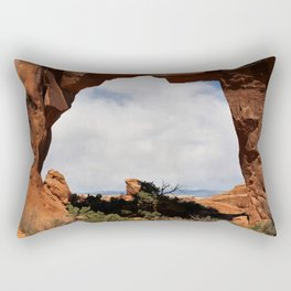 Pine Tree Arch Rectangular Pillow