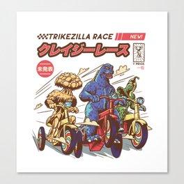 Trikezilla race Canvas Print