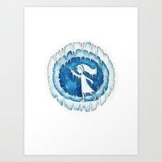Frozen Girl Plays Yo-Yo Art Print