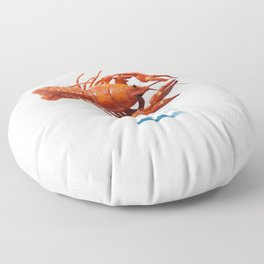 Polluted - Crawfish Lobster Floor Pillow