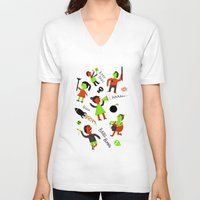 revolution V-neck T-shirts featuring revolution  by Hadar Geva