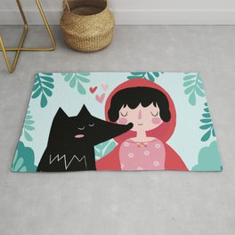 Red Riding Hood and the Wolf Rug