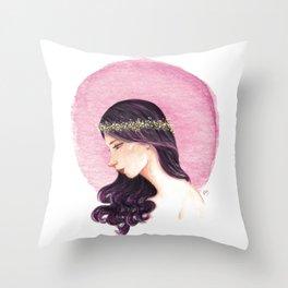 Purple Girl Throw Pillow