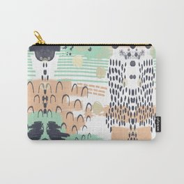 Liesel - Abstract, painterly, mark-making artist, colors cell phone case design Carry-All Pouch