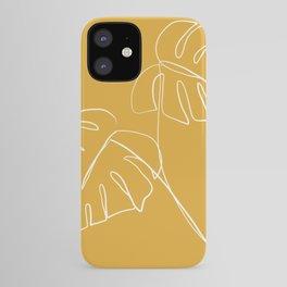 Monstera minimal - yellow iPhone Case