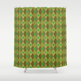 Happy St. Patrick's Day Pattern   Ireland Luck Shower Curtain