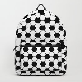 Ball pattern - Football Soccer black and white pattern Backpack