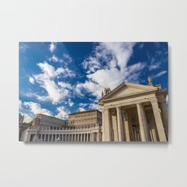 Piazza San Pietro, in the Vatican City; Rome Italy Metal Print