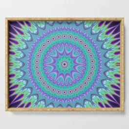 Explosive mandala ball Serving Tray