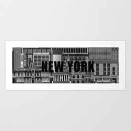 BUILDINGS SERIES 1 Art Print