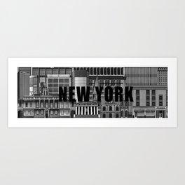 BUILDINGS SERIES 1 Art Print