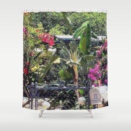Through a garden gate... Shower Curtain