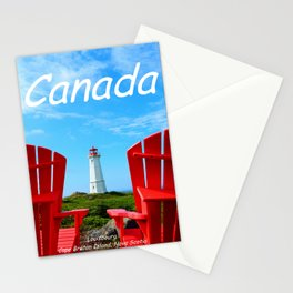 Chairs and Lighthouse, Canada Stationery Cards