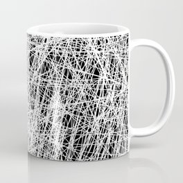 Web Of Confusion - Black and white, abstract painting Coffee Mug
