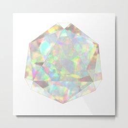 Milky White Opal Metal Print